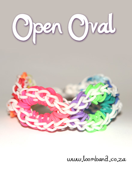 open oval loom band bracelet tutorial
