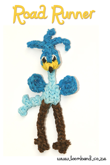 road runner loom band figurine tutorial