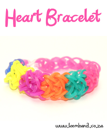 Heart Loom Band Bracelet Tutorial