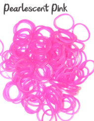 Pearlescent pink Loom Rubber Bands