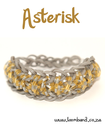 Asterisk Loom Band Bracelet Tutorial