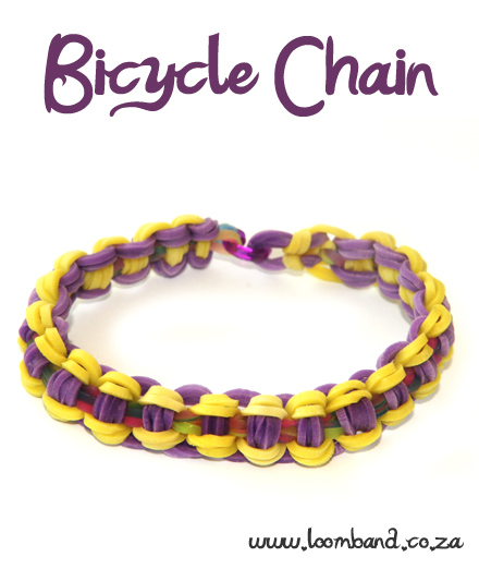 Bicycle Chain Loom Band Bracelet Tutorial