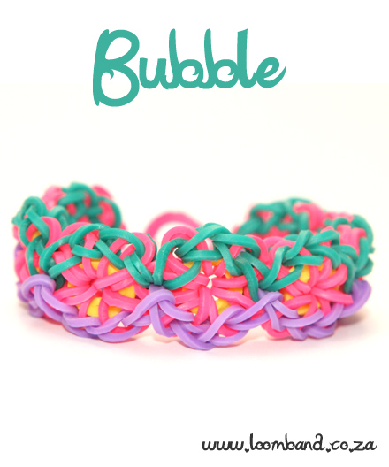Bubble Loom Band Bracelet Tutorial