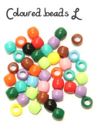 Coloured loom beads