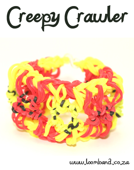 Creepy Crawler Loom Band Bracelet Tutorial