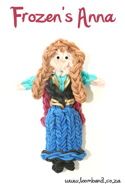 Frozen's Anna Loom Band Tutorial