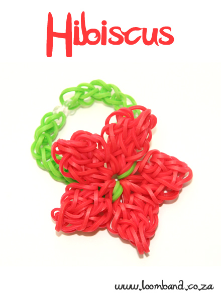 Hibiscus Loom Band Bracelet Tutorial