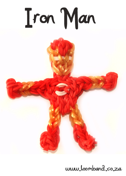 Iron Man Loom Band Figurine Tutorial