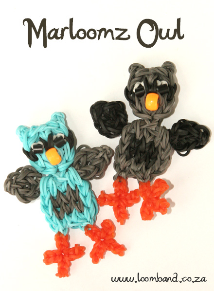 Marloomz Owl Loom Band Figurine Tutorial