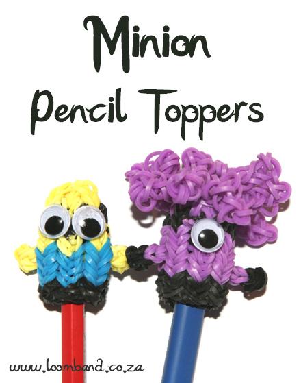 Minion Loom band Pencil topper tutorial