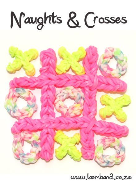 Naughts & Crosses Loom Band Game Tutorial