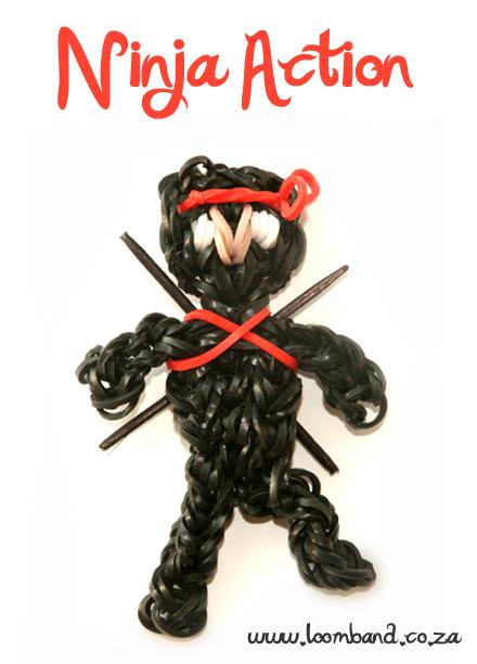 Ninja Action Loom Band Figurine Tutorial