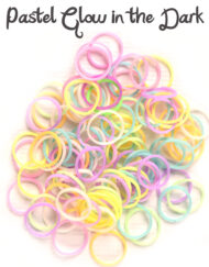 Pastel Glow in the dark Rubber Bands