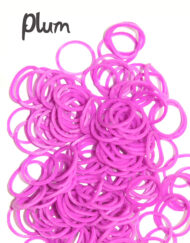 Plum rubber loom Bands