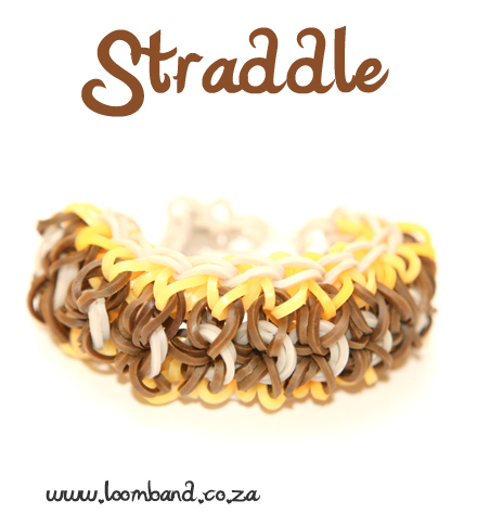 Straddle Loom Band Bracelet Tutorial