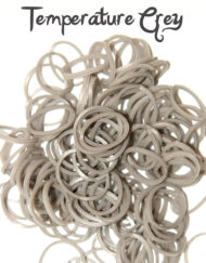 Grey to white temperature change rubber loom Bands