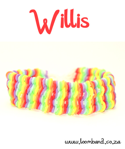 Loom Band Bracelets Names Willis Loom Band Bracelet