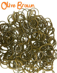 olive brown loom rubber bands