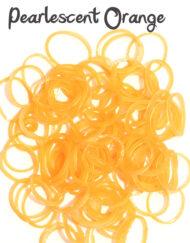 Pearlescent orange rubber loom Bands