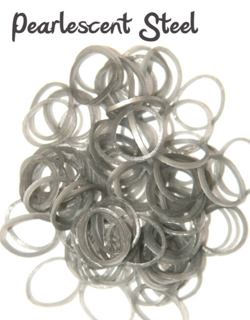 pearlescent grey rubber bands