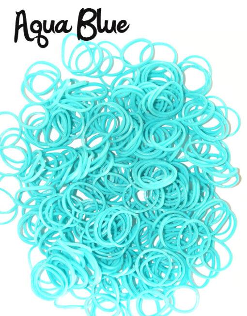 Aqua Blue Loom Rubber Bands