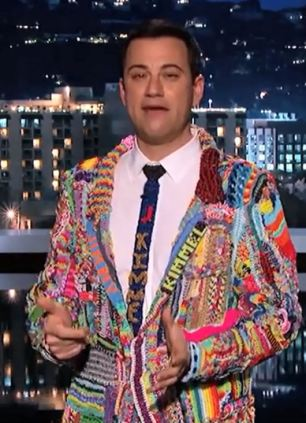Jimmy Kimmel is covered head to toe in Loom Bands