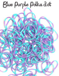 Blue and Purple polka dot Loom Rubber Bands