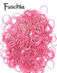 Fuchsia loom rubber bands