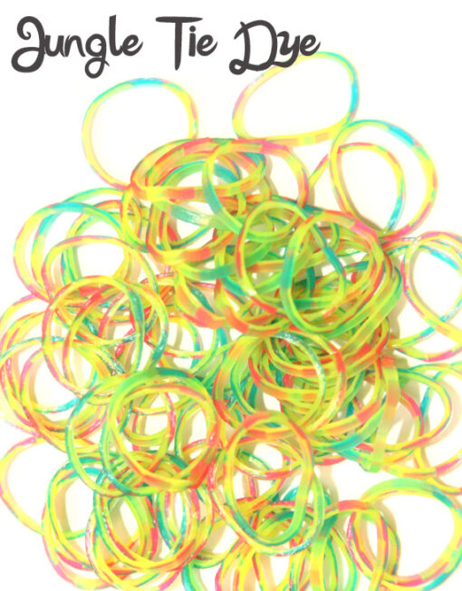 Jungle tie dye loom bands