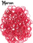 maroon rubber loom bands
