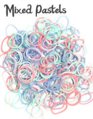 Mixed pastels Loom Rubber Bands