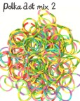 polka dot rubber loom bands