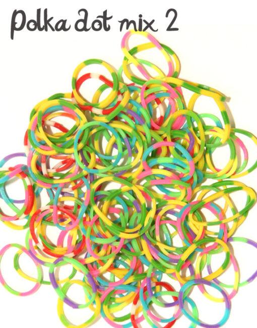 polka dot rubber loom bands