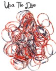 usa tie dye rubber loom bands
