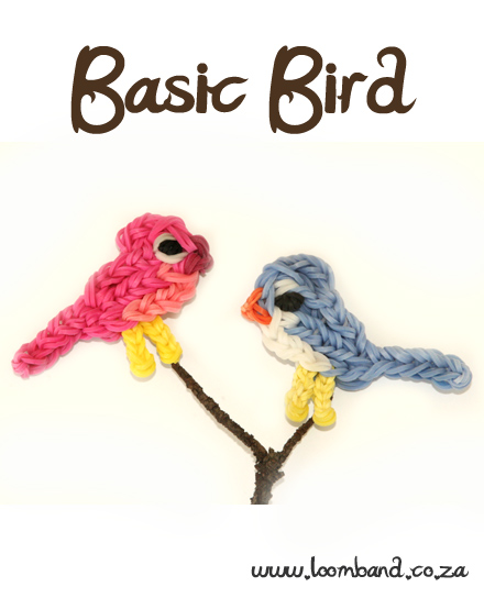 Basic Bird Loom Band Charm Tutorial
