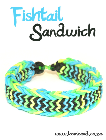 Fishtail Sandwich Loom Band Bracelet Tutorial