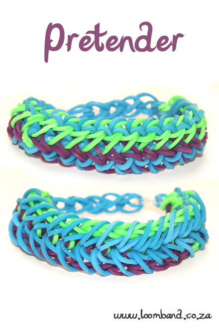Pretender Loom Band Bracelet Tutorial