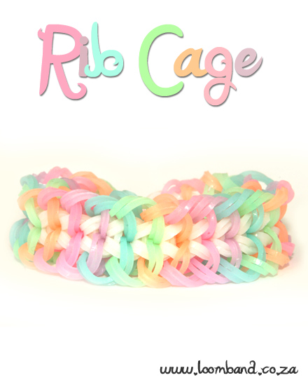 Rib Cage Loom Band Bracelet Tutorial