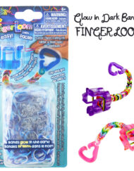 Blue Glow in the dark Finger Loom kit - Loomband