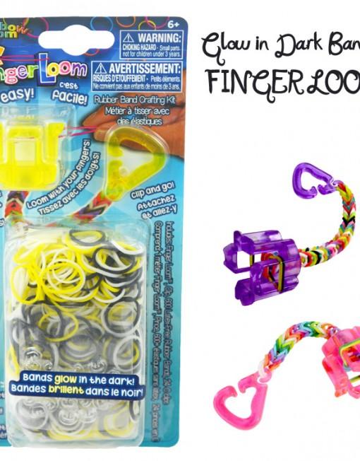 Yellow Glow in the dark Finger Loom kit - Loomband