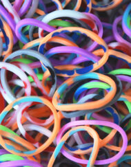 Assorted Tie Dye Rainbowloom rubber bands - Loomband