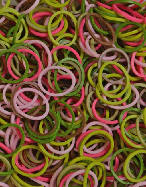 Pink Camouflage Rainbow loom rubber bands