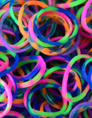 Rainbow Tie Dye Rainbowloom rubber bands - Loomband