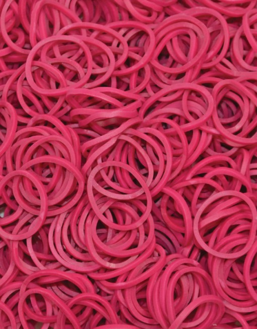 Fuschia Rainbowloom rubber bands - Loomband