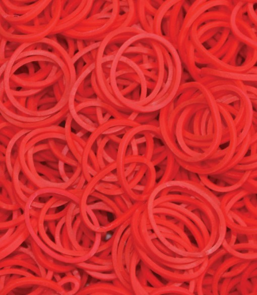 Red Rainbowloom rubber bands - Loomband