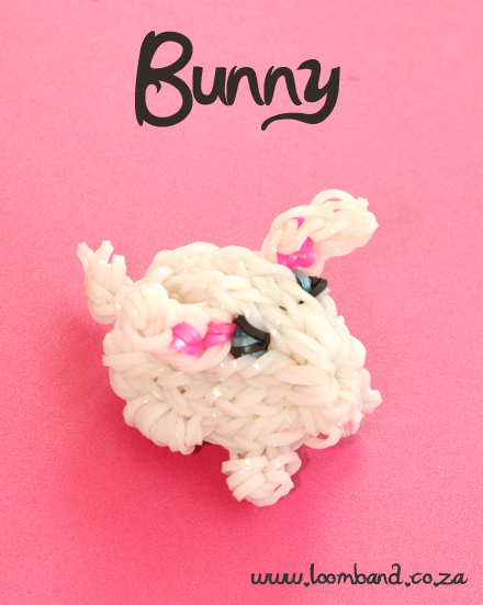 3D Bunny Loom Band Charm Tutorial