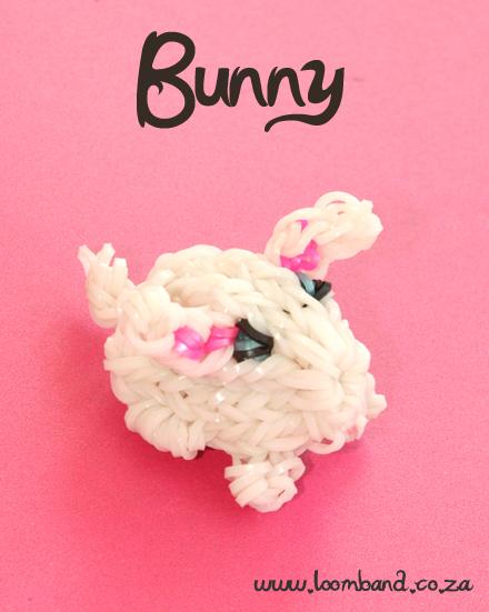 3D Bunny Loom Band Charm Tutorial