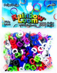 Rainbow Loom coloured C-clips 300pcs