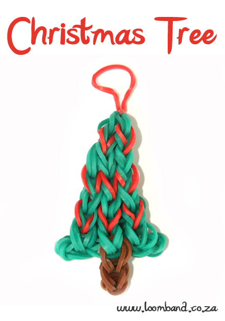 Christmas tree loom band charm tutorial