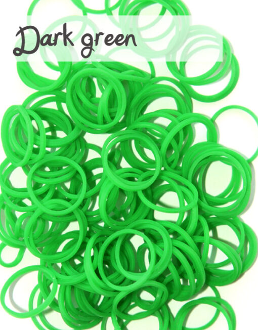 Dark Green Loom Silicone Bands